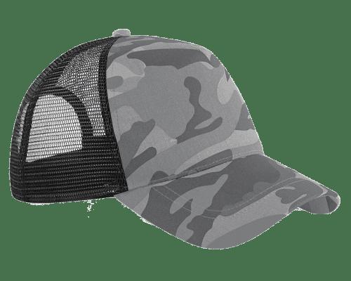 BC694 Camo Snapback Trucker Cap   Design By Creative